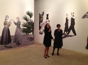 Stefania Portinari e Corinna Staffe durante la presentazione della mostra