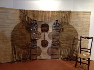 con Gianfranco Zanetti, Ritorno dall'attesa, 2000, Istallazione, plastica, legno, fibre naturali,
