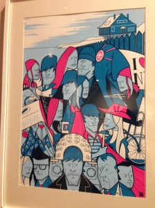 Lacuna Inc. - Ale Giorgini - Bottleneck Gallery (2013) - limited edition screenprint