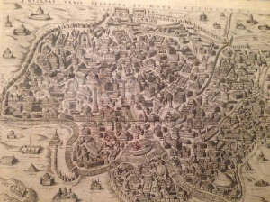 Incisore anonimo (dal Brambilla) - Antiquae urbis perfetta et nova delineati o - 1637?
