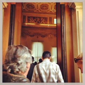 L'ingresso al Salone d'Apollo