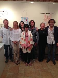 Tutti noi! Da sinistra Fabrizio e Doris Crivellari proprietari di Studio60, Elvezia Allari, io con la collana di Angela Simone, Mirko Cremasco, Patrizia Peruffo e Fraçois Bruzzo